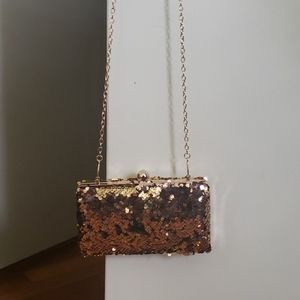 Handbags - Gold Sequin Clutch